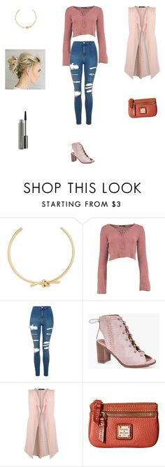 """""""Untitled #3308"""" by smaranda-panfil ❤ liked on Polyvore featuring Amber Sceats, Topshop, Boohoo, Dooney & Bourke and MAC Cosmetics"""