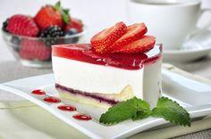 Piece of strawberry cheesecake :)