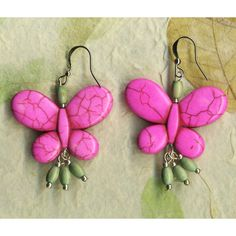 Pink Howlite Turquoise Earrings with Vintage Bead Dangles ($13) ❤ liked on Polyvore featuring jewelry, earrings, integritytt, rescuedofferings, turquoise earrings, blue turquoise earrings, beading earrings, vintage turquoise jewelry and turquoise dangle earrings