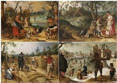 Allegories of the Four Seasons: Winter, Spring, Summer and Autumn, c. 1618 Sebastian Vrancx (Flemish, 1573–1647)