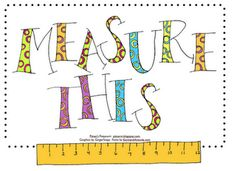 And here's your freebie for measurement. Kids draw a task card and add each measurement to their total. The one with the highest total after ten turns wins. They have to convert to feet and inches or centimeters and meters. Run the task cards for the standard units and metric units in different colors. Use whichever units you are practicing.