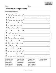 Fortnite Worksheets - Teaching Squared Kindergarten Activities, Science Activities, Educational Activities, Activities For Kids, Reading Activities, Fun Worksheets, School Worksheets, Education Quotes In Hindi, Teaching Time