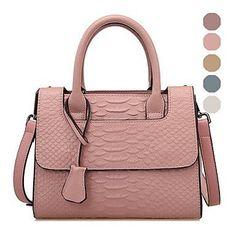 Trendy damestas met handvat/ schouderband roze kleur