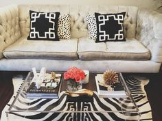 How to Style a Coffee Table (Modern Glam)