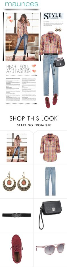 """""""The Perfect Blouse with maurices: Contest Entry"""" by anne-irene ❤ liked on Polyvore featuring maurices and Yves Saint Laurent"""
