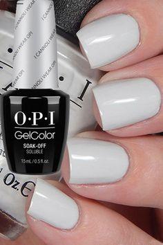 OPI - I cannoli wear Gelcolor Opi Gel Nails, Gel Nail Polish, Acrylic Nails, Shellac, Cute Nails, Pretty Nails, Pink White Nails, Soft Nails, Happy Nails
