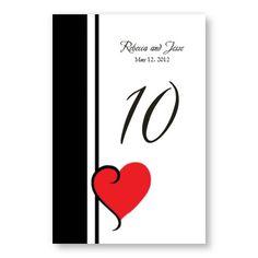 My Heart's Desire Table Cards  -->prefer more unique DIY ideas