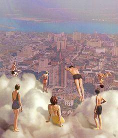 "# by Philipp Igumnov ☁️"" – Collage Fashion 2019 Surreal Collage, Surreal Art, Collage Art, Collages, City Collage, Dream Collage, Arte Complexa, Arte Pop, Photomontage"