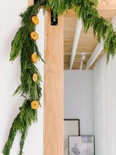 easy DIY orange slice garland | mid-century modern holiday at home with Finding Beautiful Truth