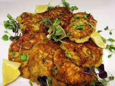 Mussel, lemon, goat cheese and zucchini fritters