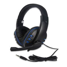 GSUMMER Gaming Headset Head-Mounted Desktop Laptop PC Remote Control with Wheat Microphone Glowing Gaming Headset,Black