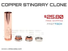 Copper 18650 Stingray Clone: $25 Shipped, http://www.vapecore.com/?p=4591 #vape #vaping #vapelife #ecig #vapecore