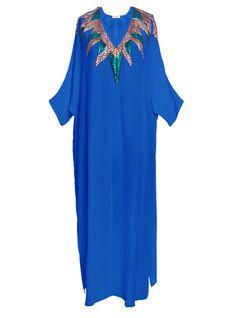 Sequin Casu Kaftan- Blue    Modern, Bohemian, Gypset, Glam, Resortwear, Luxurious, Travel