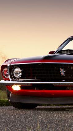 Ford Mustang 1969, Red Mustang, Ford Mustang Boss, Ford Mustang Shelby Gt500, Mustang Cars, Ford Shelby, Ford Mustangs, Car Ford, Mustang Iphone Wallpaper