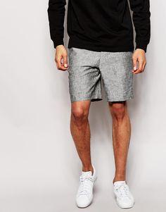 Bild 1 von ASOS – Elegante Shorts aus 100% Leinen in schmaler Passform