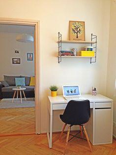 My home - skandinavian living room - home office - Eames chair - string shelf