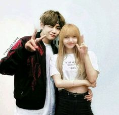 Meeting you has been the greatest sensation. Bts Jungkook And V, Blackpink And Bts, Twice Video, Bts Girlfriends, Just Add Magic, Taehyung Fanart, Black Pink Kpop, Kpop Couples, Fake Pictures