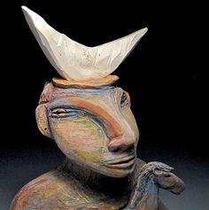 Ceramic Figure Ceramic Sculpture Starting a New by BlueFireStudio, $455.00