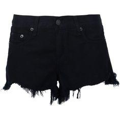 Rag & Bone Raw Edge Shorts ($165) ❤ liked on Polyvore featuring shorts, bottoms, black and rag bone shorts