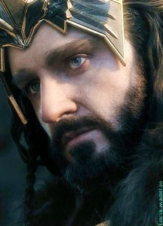 Previous pinner notices:  Thorin :Q___ those eyes, those lips, that beard….but wait… his nose is running?! O_o
