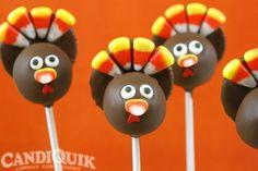 Turkey Cake Pops - love these cute little pops! @Miss CandiQuik