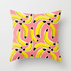 Bananas! Throw Pillow