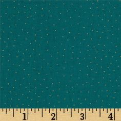 Gatsby Metallic Dot Blue from @fabricdotcom  Designed by The Henley Studio for Andover Fabrics, this fabric is perfect for quilting, apparel and home décor accents.  Colors include gold on a teal background.