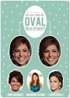 Working with an oval face shape? Follow the link for tips + tricks.