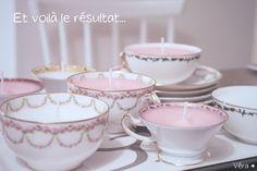 DIY – Tasses en porcelaine et bougies vintage