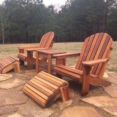 Premium Western Red Cedar Wood Adirondack Chair | Etsy Wood Adirondack Chairs, Outdoor Chairs, Outdoor Furniture, Outdoor Decor, Patio Chairs, Pallet Furniture, Outdoor Ideas, Garden Furniture, Red Cedar Wood