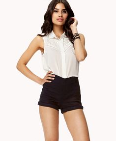 High-Waisted Cuffed Shorts | FOREVER21