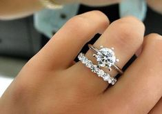Love the idea of a solid band then adding a cool wedding band #diamondweddingrings