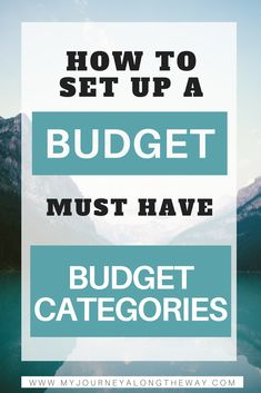 Setting up a budget?