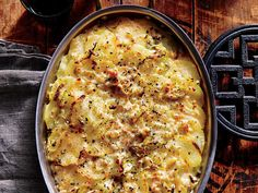 A mandoline will slice the potatoes quickly and to the exact same thickness, though a sharp knife will also work. Instead of burying the potatoes and leeks in cream, a drizzle of milk is added to every layer of the gratin; the potatoes get wonderfully crisp and tender, and the cheeses form a melty, golden crust. The result is a rich, rustic potato side with contrasting flavors and textures—a bit of crunch to round out the stuffing, sauces, and mashes on the plate. Reheat leftovers in the…