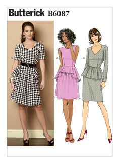 Dress Patterns At Spotlight - View Our Latest Fashion Catalogue! Dress Sewing Patterns, Clothing Patterns, Skirt Patterns, Miss Dress, New Dress, Dresses To Hide Tummy, Flattering Outfits, Sewing Alterations, Bra Pattern