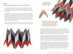 Spread from the pattern for the Layered Rick Rack, by Kate Mckinnon - Free PDF sample from book.  #Seed #Bead #Tutorials