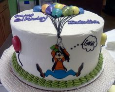 Goofy Cake Topper by ICED_For_You, via Flickr