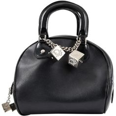 Pre-owned Dior Leather Handbag (31.340 RUB) ❤ liked on Polyvore featuring bags, handbags, black, women bags handbags, oversized leather handbags, top handle leather handbags, genuine leather handbags, genuine leather purse and leather hand bags