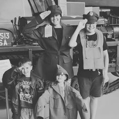 Me and the boys reporting for duty #IWMDuxford #mummymatterssummer2016 #daysoutwithkids