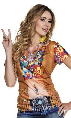Printtipaita; Hippineito. Paita näyttää siltä, kuin paljastelisit ihoasi tyylikkäästi vaikka oletkin verhoutunut tavalliseen t-paitaan.