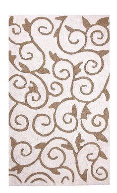 Featuring a unique scroll design pattern, this rug is designed to fit in perfectly in all the modern and contemporary homes or offices.