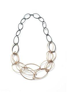 Emma necklace // two-tone chain statement necklace // megan auman