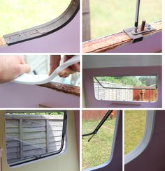 My Thrifty Life by Cassiefairy - Cassiefairys vintage caravan makeover project – retro window trim - Caravan Renovation Diy, Diy Caravan, Caravan Vintage, Caravan Makeover, Camper Caravan, Vintage Caravans, Vintage Travel Trailers, Diy Camper, Caravan Ideas