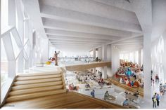 New Central Library, interior, teen + youth space