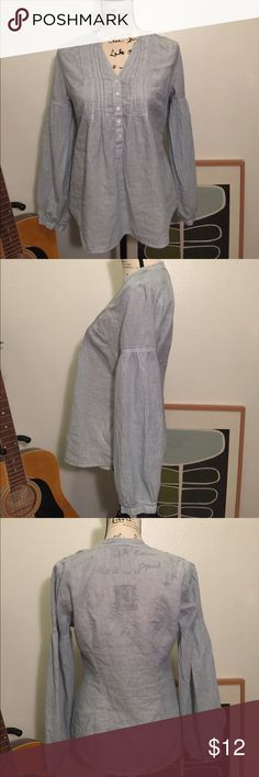 Converse One ⭐️ Star  tunic Cute lightweight blue and white striped cotton tunic. Nice details on the chest, puffy sleeves. Excellent condition! Converse Tops Tunics