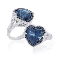 Blue jewelry | QVC Jewelry: Judith Ripka Sterling Blue Topaz and Diamond Ring ...