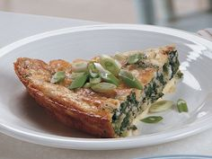 Impossibly Easy Spinach-Parmesan Pie. I make a stuff shell with these same and ingred.  This looks easier. Can't wait to try it.
