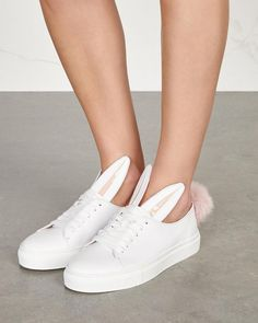 MINNA PARIKKA Bunny white leather trainers | Buy ➜ https://shoespost.com/minna-parikka-bunny-white-leather-trainers/