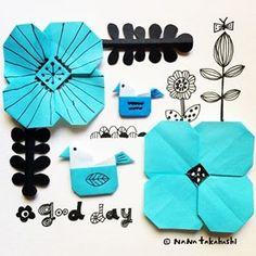 今日はえべっさん 商売繁盛祈願に行かな〜〜(^.^) #おはな #ことり #きりえ #おりがみ #北欧 #bird #papercraft #papercut #origami #illustration #scandinavian