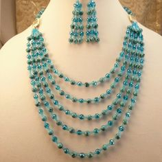BLUE HOWLITE NECKLACE SET This beautiful Howlite necklaces set is a one of a kind beauty that will stand out  with whatever you wear it. Jewelry Necklaces